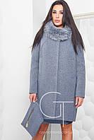 Женское зимнее пальто прямого силуэта  46