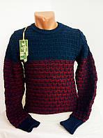 Мужской теплый свитер реглан джемпер.В разных цветах.  Фирма Dispicaso.№009