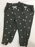 Спортивные детские штаны серого цвета в звёздах . Размеры: 92-116