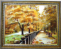 Картина набережная Харьков из янтаря