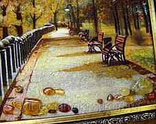 Картина набережная Харьков из янтаря, фото 3