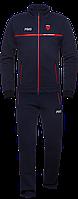 Спортивный костюм мужской зимний с начесом темно-синий-красный