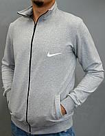 Чоловіча олімпійка на замку Nike - світло-сіра