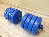 Гантелі розбірні (набірні) бітумні Atlant 2 шт по 17 кг, фото 1