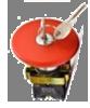 Кнопка-грибок SNP2-BS145 красная с ключом (металл) 40mm NO+NC Solard
