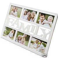 Мультирамка (фоторамка коллаж) FAMILY Прогулка с детьми
