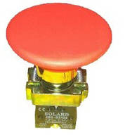 Кнопка-грибок SNP2-BR45 красная 60mm без фиксации NO + NC Solard