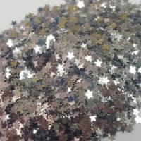 Глиттер 3 мм, серебряные звездочки, 5 грамм