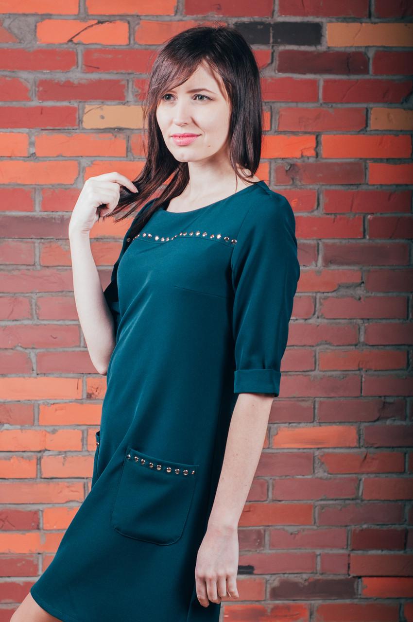 9383a2f4beb56e Платье с заклепками - Магазин МОДНАЯ КУКЛА платья оптом от производителя в  Хмельницком