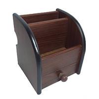 Подставка канцелярская 8002 деревянная