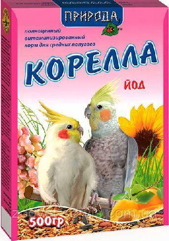 Корм для средних попугаев Корм Природа Корелла + йод