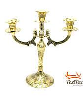 Подсвечник на 3 свечи из бронзы