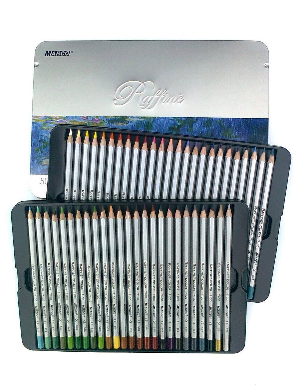 Цветные карандаши 50 цветов в металлической коробке