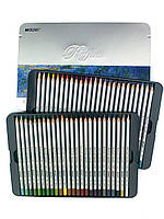 Цветные карандаши 50 цветов в металлической коробке, фото 1