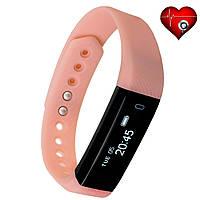 Фитнес трекер VeryFit HR 116 с датчиком сердцебиения для iPhone и Android розовый