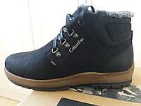 Кожаные зимние мужские ботинки : снежный бот.