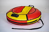 Сани - тюбінг ватрушка Donut з блискавкою і ручками 80 см (кольори в асортименті) Комфорт, фото 3