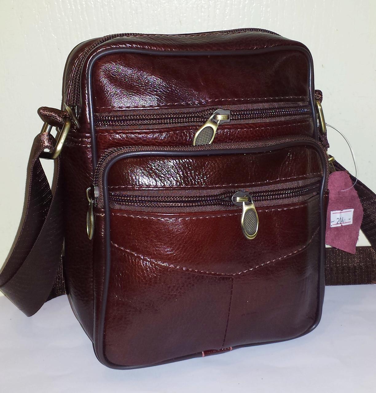 b027c4ee2f94 Мужская сумка из натуральной кожи C-114 (23х19X10см)  продажа, цена ...
