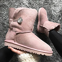 Ботинки женские UGG mckay Pink натуральная овчина replica AAA