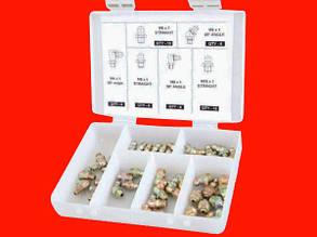 Groz 43971 GFT/KIT/M-110 набор пресс-масленок для смазки 110шт