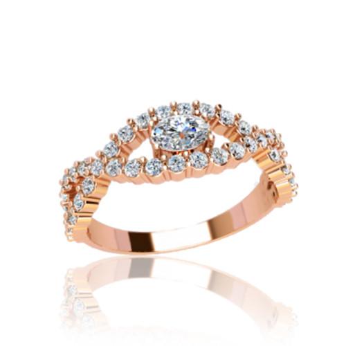 Золотое кольцо с камнями ГП21098