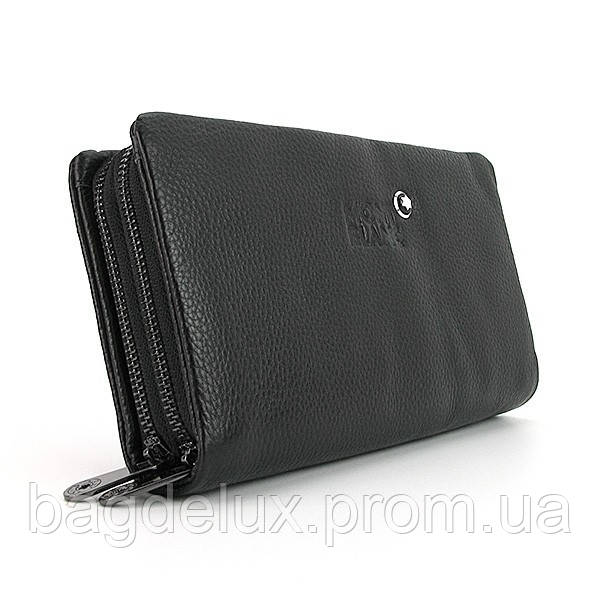 ad572c8be71b Клатч кистевая барсетка кожзам мужская черный Mont Blanc 117 - Bag De Lux -  Интернет магазин