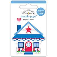 Наклейка 3D - Doodlebug - Cute Cottage