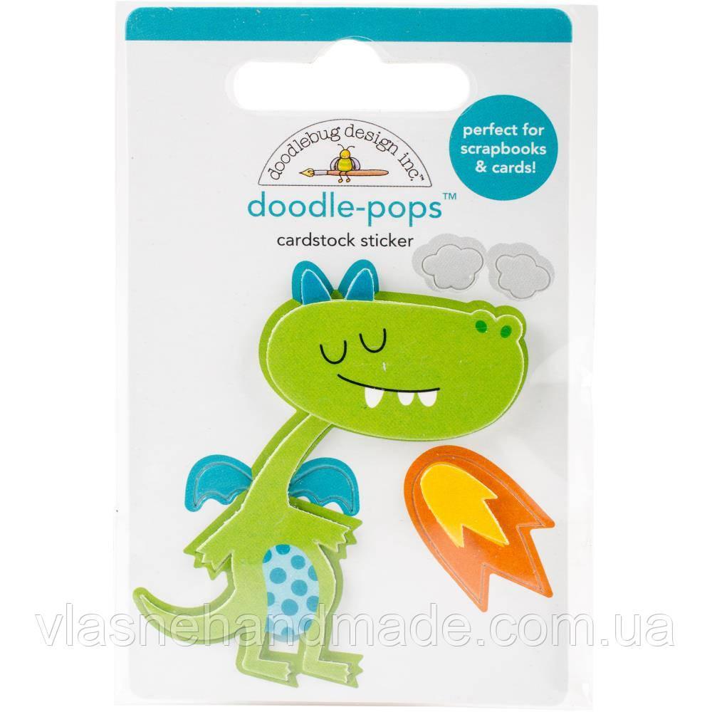 Наклейка 3D - Doodlebug - Dragon Tails Puff
