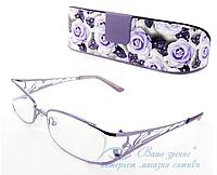 Очки женские для зрения с диоптриями +/-, антибликовые., фото 1