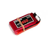 Аккумулятор AGA POWER Li-Po 450mAh 11.1V 3S 25C Softcase 13x30x52мм JST