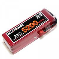 Аккумулятор AGA POWER Li-Po 5200mAh 22.2V 6S 25C Softcase T-Plug