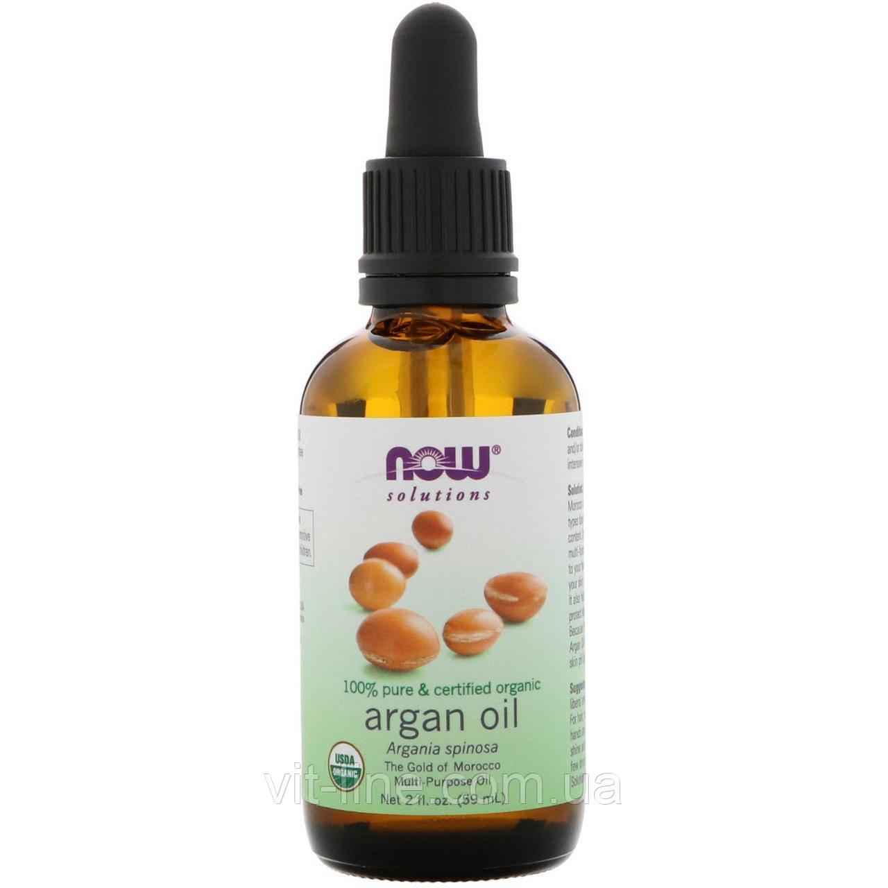 Now Foods, Органическое аргановое масло (59 мл)