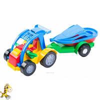 Игрушечная машинка авто-багги з прицепом