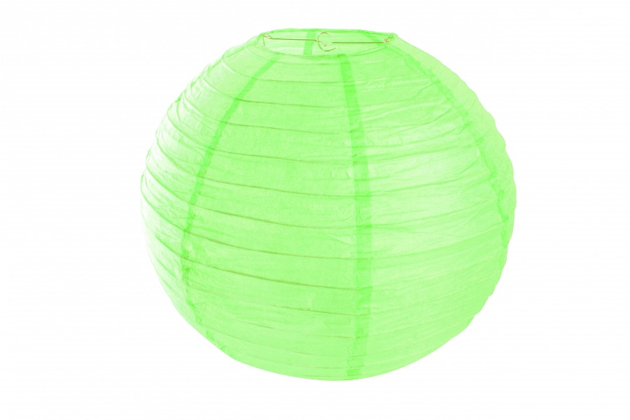 Бумажный подвесной шар салатовый, 35 см