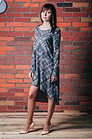 Платье геометрический узор с люрексом