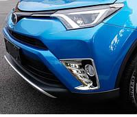 Toyota RAV4 Mk4 2016+ хром накладки на передние противотуманные фары тип B