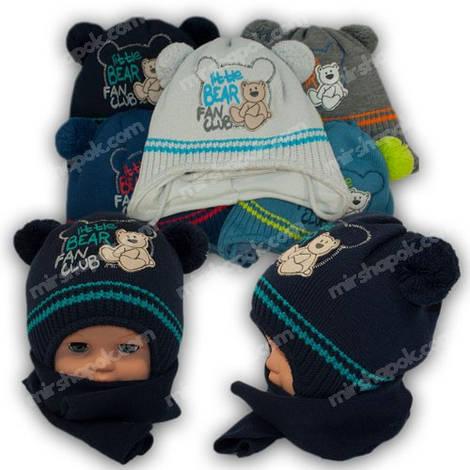 Комплект шапка и шарф для мальчика, Grans (Польша), утеплитель Softi term, AM104ST