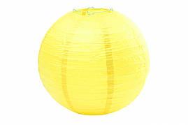 Бумажный подвесной шар желтый, 35 см