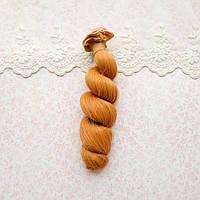 Волосы для кукол локоны в трессах, карамель - 15 см