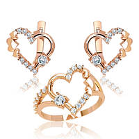 Ювелирный набор из золота Сердце П16