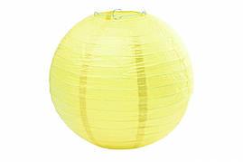 Бумажный подвесной шар кремовый, 35 см