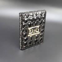Обложка для паспорта кожаная женская Dolce&Gabbana 306-10179