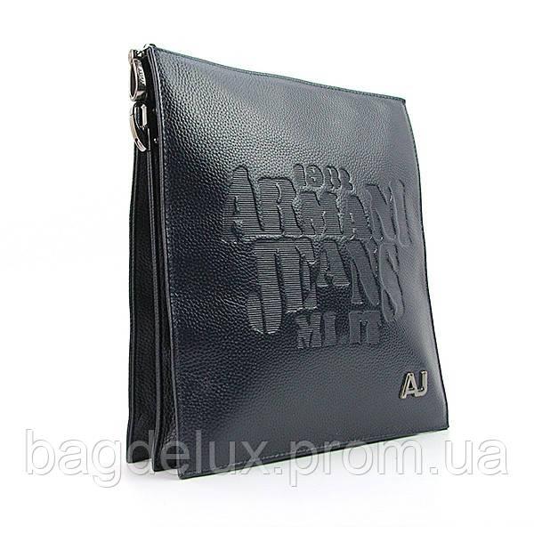 Сумка средняя кожаная мужская синяя планшет Armani 8188 - Bag De Lux -  Интернет магазин сумок d0edb72170e