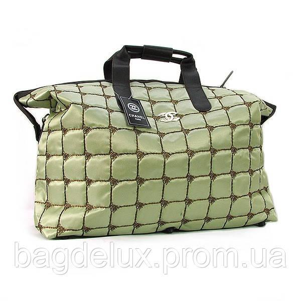 53889b8c7fd5 Сумка текстильная большая женская зеленая Chanel 5338 - Bag De Lux -  Интернет магазин сумок в