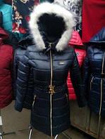 Зимняя женская куртка с мехом (42-50), доставка по Украине