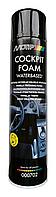 Аэрозольный пенный очиститель приборной панели Black Line Motip 600 мл