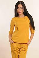 Блуза женская Горчица цвет горчица