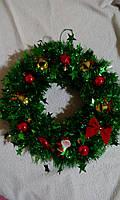 """Новогодний/Рождественский венок на дверь """"Новый Год"""", зеленый"""