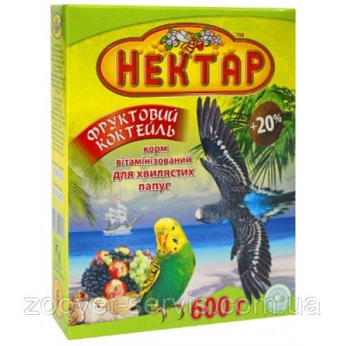Корм для волнистых попугаев НЕКТАР Фруктовый Коктейль