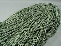 Витой декоративный шнур (канат)бледно зеленый ширина 5мм (1уп-100ярдов=92метра)